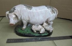 八十年代石湾陶瓷美术工艺大师霍家荣制作本土福猪