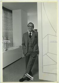 1995年著名华裔建筑大师贝聿铭肖像照片。29.3X20.2厘米