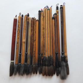 日本中国传统特选毛笔羊毫兼毫等二手20根N703