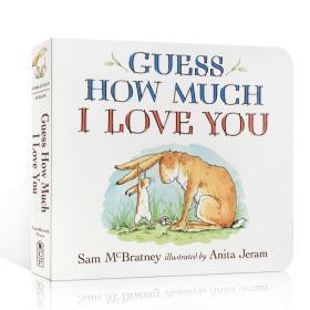 猜猜我有多爱你 英文原版 Guess How Much I Love You 廖彩杏书单0-3-6岁宝宝英语情商启蒙入门 儿童绘本