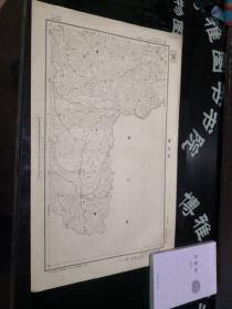 民国地图:沿河县  贵州省  民国二十三年制, 品如图。品自定 58*36CM    100号柜