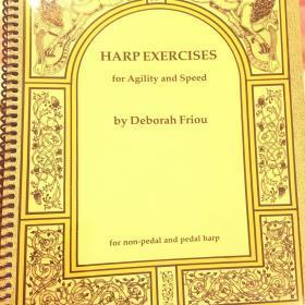 竖琴谱:Harp exercise 竖琴练习册(江湖人称小黄书)34弦以上竖琴可用,少量现货不包邮