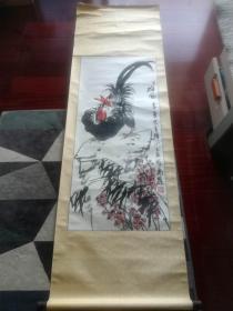 同一上款:中国美术家协会会员、广东省书法家协会会员阿万提国画 ,112cm*50cm