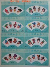 京剧脸谱第二组纪念张1套8枚 94年第006号500-11-18(纪念张不带面值)