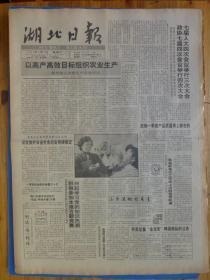 湖北日报1991年4月3日王任重项怀诚为湖北财税题词