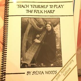 竖琴谱:Teach yourself to play the harp 竖琴教材 34弦以上 少量现货不包邮