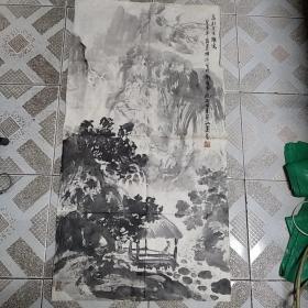 安徽著名画家夏普 国画山水清音