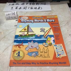 Hooked On Phonics Kindergarten Rhyming Words Workbook