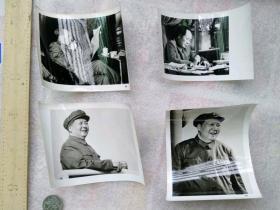 文革毛主席老照片4张不同