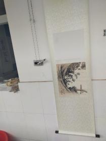 陈少梅  山水人物小品 立轴 尺寸42x32