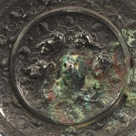 唐海兽葡萄镜