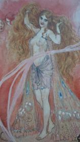 1908年Goethe: FAUST  威利•波加尼(Willy Pogany)绘本《浮士德》 珍贵初版本 26张绝美彩色石版画插图 超大开本 品相上佳