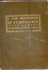 """32开法文版:《第九交响曲(d小调 Op.125 """"合唱"""")》【翻译不一定准确,以图片为准,品如图】"""