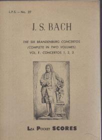 36开法文版:《勃兰登堡协奏曲》第一卷【翻译不一定准确,以图为准】