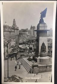 【照片珍藏】民国早期上海外滩欧战纪念碑以北沿街建筑群及码头繁忙景象,中国银行大楼即将完工。老照片内容丰富,影像清晰饱满、甚为难得