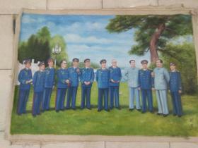 特大油画(毛主席和十大元帅)130Ⅹ190