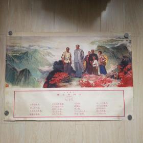 年画:毛主席重上井冈山