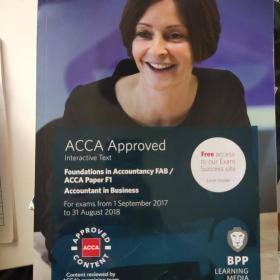 BPP ACCA英国特许公认注册会计师考试参考书F1