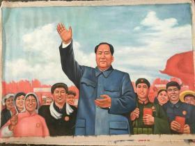 特大油画(永远跟着毛主席)130Ⅹ190