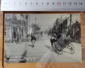 【古董级】收藏级别老明信片---满洲国时期---长春中国街