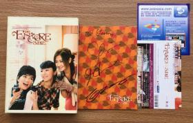 SHE 安可 encore 经典专辑 候鸟 痛快 金钟罩铁布衫 保持微笑 双碟 附侧标 卡片 三人签名版 港版