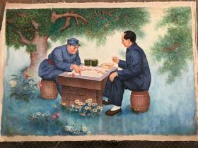 特大油画(毛主席和朱总司令)130Ⅹ190