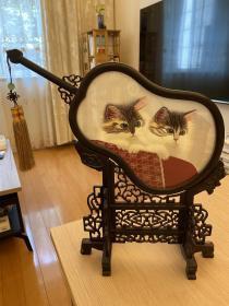 猫咪双面绣