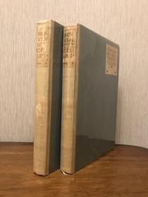 1900年 Vale Press<The Life of Benvenuto Cellini>两卷本 山谷出版社出版过的最大开本 Charles Ricketts 木刻版画 限量