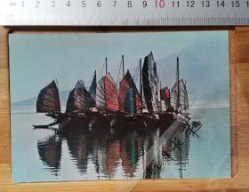 老明信片----晚清民国时期香港---青山帆影