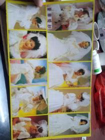 港台明星婚纱特辑已经贴在纸板,完整没分割
