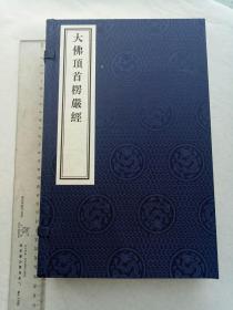 大佛顶首楞严经,金陵刻经处,27*16厘米,(至从一读楞严后,不读人家糟粕书——梁启超)