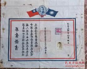 民国毕业证书(校长林仲易)