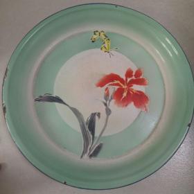 花卉画面搪瓷盘
