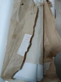 七八十年代四川老竹纸65张  三尺大小  最外一张有破