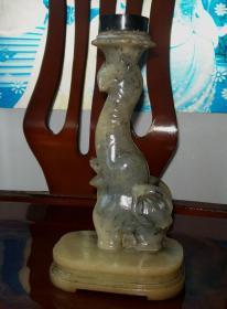 寿山石雕台灯座