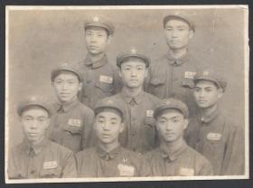 1951年,军人合影照照片