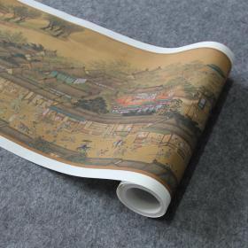 明 仇英 清明上河图 中国画名画真迹高清微喷复制装饰临摹学习
