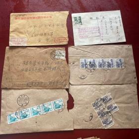 老信封17张明信片4张电报4张张