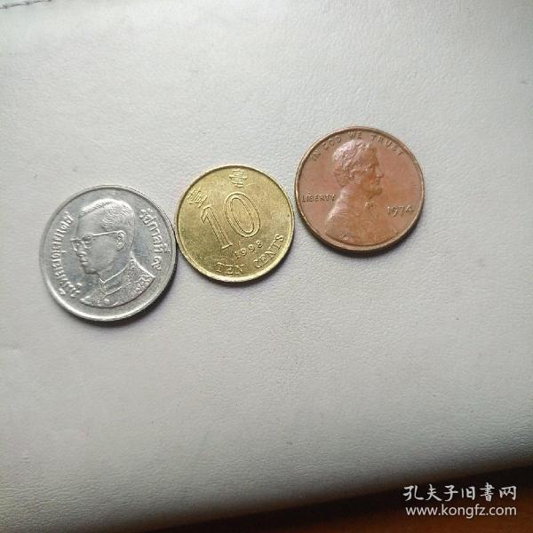 泰國幣.港幣.美分幣