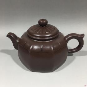 徐汉棠款六方紫砂壶17x9