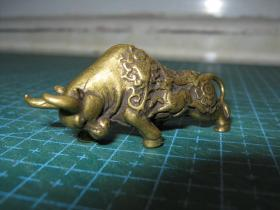 生肖系列:黄铜生肖牛钥匙扣挂件(生肖文化:生肖纪念品、生日礼品)