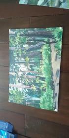 老油画【风景】1975年于二道白河