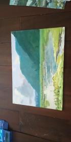 老油画【风景】1973年写于杨木
