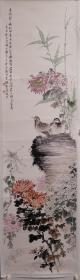 钱松嵒花鸟画老托芯,包老包手绘。