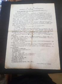 文革布告:杭州运输段临安站红色暴动委员会成立宣言(39/54厘米)