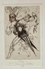 捷克 玛丽安里希特(Marina Richter)版画藏书票原作9精品收藏