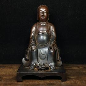 铜佛像 长14厘米,宽11厘米,高22厘米 重1115克