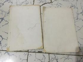文房旧纸 《线装空白民国纸两本 共28张》尺寸26X17.5cm.