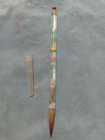 (店)塑料套料筆桿,毛筆,中小楷毛筆,一支兩頭,