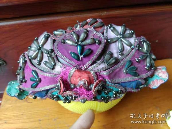 民國盤金繡兒童帽(保老保真)